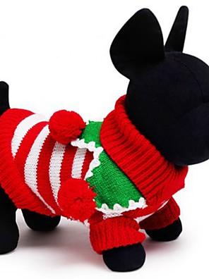 חתולים / כלבים סוודרים Red / ירוק / לבן בגדים לכלבים חורף / קיץ/אביב Raita חג / Keep Warm / חג מולד
