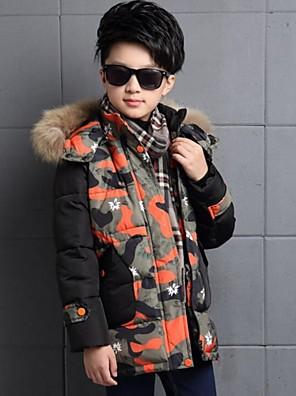 Boy's Casual/Daily Print Down & Cotton PaddedPolyester Winter Green / Orange