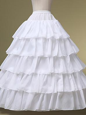 תחתונית  סליפ שמלת נשף אורך עד לרצפה 5 Chinlon לבן