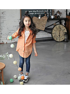 Girl's Casual/Daily Solid Pants / JeansCotton / Polyester Summer / Spring Blue