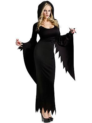 תחפושות קוספליי / תחפושת למסיבה מלאך ושטן פסטיבל/חג תחפושות ליל כל הקדושים שחור אחיד שמלה / עוד אביזרים האלווין (ליל כל הקדושים) נקבה