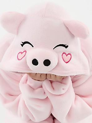 Kigurumi Pyžama Komiks Leotard/Kostýmový overal Festival/Svátek Animal Sleepwear Halloween Růžová Patchwork polar fleece Kigurumi Pro Dítě