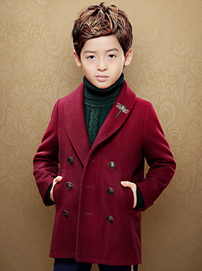 Boy's Casual/Daily Solid Suit & BlazerCotton Spring Red / Beige