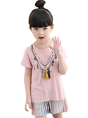 Girl's Casual/Daily Solid BlouseCotton / Bamboo Fiber Summer Blue / Pink / White