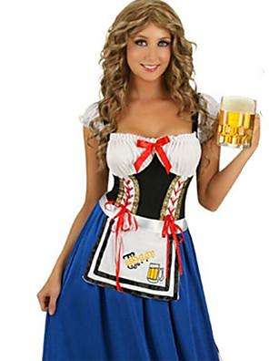 תחפושות קוספליי / תחפושת למסיבה חליפות חדרניות / פסטיבל אוקטובר פסטיבל/חג תחפושות ליל כל הקדושים כחול טלאים שמלה / עוד אביזריםהאלווין