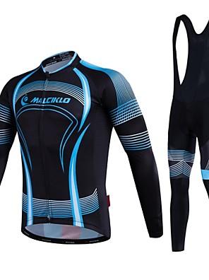 MALCIKLO® לגברים שרוול ארוך אופנייםנושם / ייבוש מהיר / רוכסן קדמי / לביש / חדירות גבוהה לאוויר (מעל 15,000 גרם) / דחיסה / חומרים קלים /