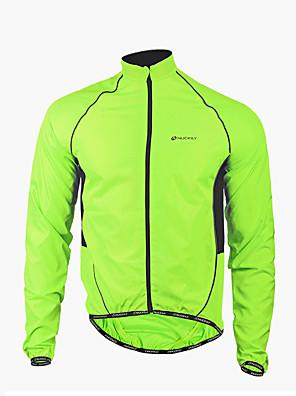 NUCKILY® ג'קט לרכיבה לגברים שרוול ארוך אופניים עמיד למים / עמיד / רוכסן קדמי / לביש ג'קט / מעילי רוח / מעיל גשם / צמרות פוליאסטר טלאים