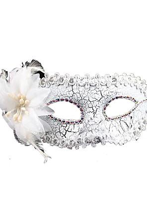 Maškarní / Halloween Props Princeznovské Festival/Svátek Halloweenské kostýmy Bílá Patchwork / Tisk Maska Halloween UnisexTechnické