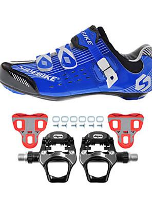 sidebike Obuv na cyklistiku Unisex Outdoor / Silniční kolo Tenisky Tlumení / Polstrování Černá / Modrá
