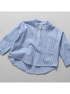 Girl's Casual/Daily Striped Suit & BlazerCotton Spring / Fall Blue