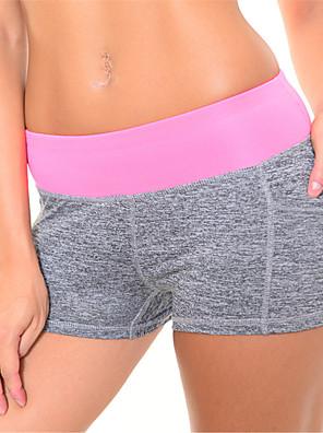 calças de yoga Shorts / Shorts Roupa interior / Fundos Respirável / Secagem Rápida / Compressão Natural Elasticidade Alta Wear Sports