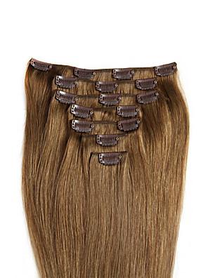 fuld leder klip i hair extensions 100% ægte remy menneskehår