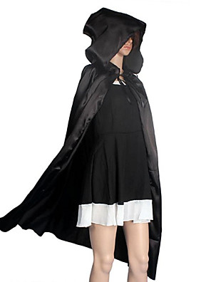 תחפושות קוספליי / גלימה / עזרים ל-Halloween / תחפושת למסיבה / נשף מסכות קוסם/מכשפה / מלאך ושטן / רוח תחפושות משחק של דמויות מסרטים שחור