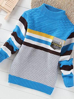 Boy's Casual/Daily Geometric Sweater & CardiganCashmere / Wool Winter / Spring / Fall Blue / Green