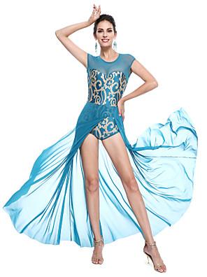 בלט תלבושות בגדי ריקוד נשים / בגדי ריקוד ילדים ביצועים נצנצים / לייקרה נצנצים בלי שרוולים טבעי