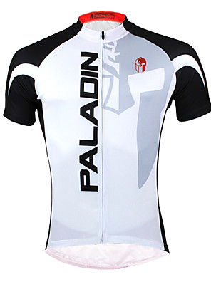 PALADIN® חולצת ג'רסי לרכיבה לגברים שרוול קצר אופניים נושם / ייבוש מהיר / עמיד אולטרה סגול ג'רזי / צמרות פוליאסטר / 100% פוליאסטראופנתי /