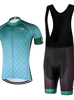 Esportivo Camisa com Bermuda Bretelle Unissexo Manga Curta MotoRespirável / Secagem Rápida / Design Anatômico / Resistente Raios