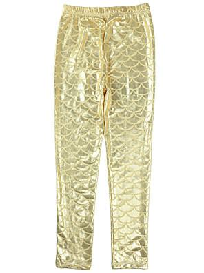 מכנסיים חוף הדפס חיות ניילון / ספנדקס קיץ זהב / ורוד / אדום / לבן הילדה של