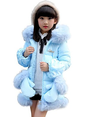 Girl's Casual/Daily Solid Down & Cotton PaddedPolyester Winter Blue / Pink / Purple / Red