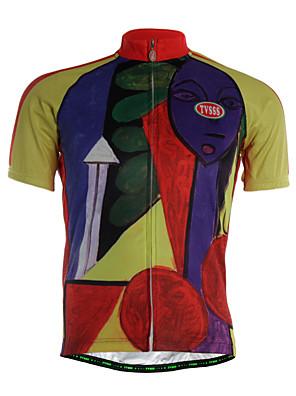 ספורטיבי חולצת ג'רסי לרכיבה לגברים שרוול קצר אופניים נושם / ייבוש מהיר / רוכסן קדמי / בד קל מאוד / רך / נוח ג'רזי Coolmax / LYCRA® / טרילן