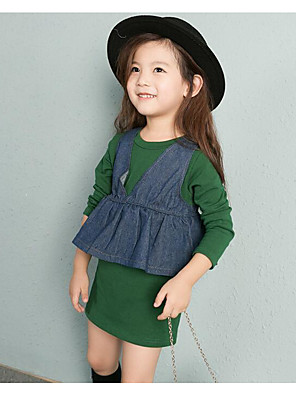 Girl's Casual/Daily Solid Tank & Cami / Overall & Jumpsuit / Clothing SetCotton Spring / Fall Brown / Green
