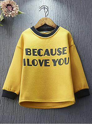 Girl's Casual/Daily Print Hoodie & SweatshirtCotton / Rayon Winter / Spring / Fall Yellow