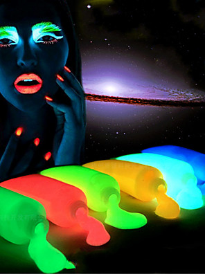 5 stykke håndmalede lysende glød halloween nat løbeværk krop maling selvlysende maling giftfri uskadelige 5 stykke