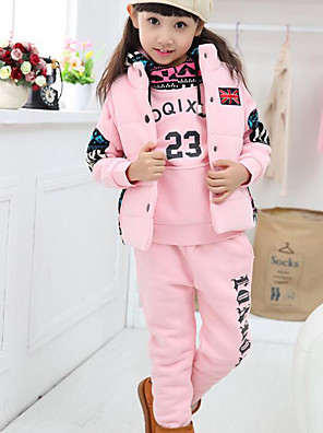 Girl's Casual/Daily Print Suit & BlazerCotton Winter Pink / Red / Gray