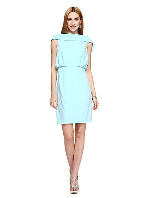 TS Couture® מסיבת קוקטייל שמלה - איוונקה סגנון / סגנון של מפורסמים מעטפת \ עמוד סירה קצר \ מיני פוליאסטר עם תד נשפך