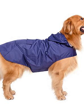 pejsky Pláštěnka Červená / Světle zelená Oblečení pro psy Léto / Jaro/podzim Jednobarevné Voděodolný / Rüzgar Geçirmez