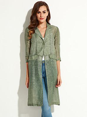 es.dannuo dámská příležitost styl typ sezóně svrchní oblečení, vzor výstřih délka rukávu tloušťka barevné tkaniny