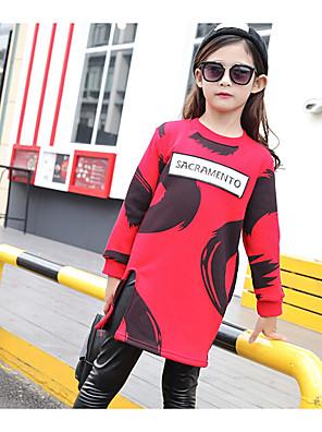 Girl Casual/Daily Print Tee,Cotton / Rayon Winter / Spring / Fall Long Sleeve Regular