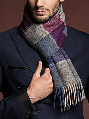 Masculino Lenço Casual Lã Masculino