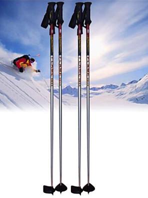 onewav ski pole.ski sportsgrene produkter / rød og sølvfarvede
