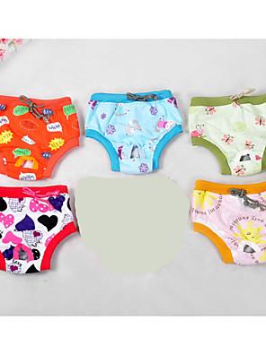 Cães Calças / Colete Colorido Roupas para Cães Inverno / Verão / Primavera/Outono Desenhos Animados Fofo / Casual