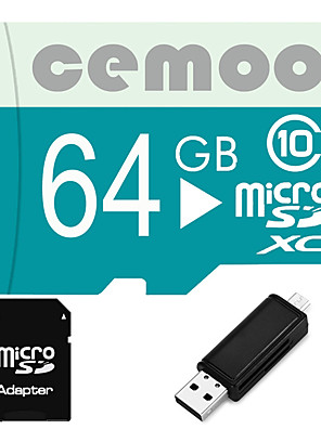 Other 64GB MicroSD Classe 10 20 Other Leitor de Cartão Tudo-em-Um / Leitor de Cartão Micro SD / Leitor de Cartão SD CETY02 USB 2.0