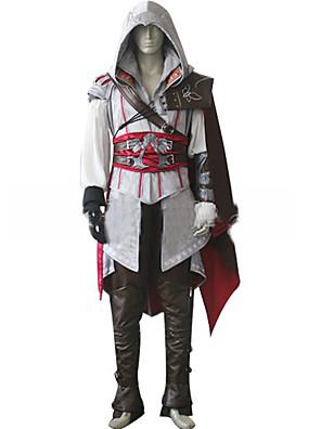 קיבל השראה מ מתנקש קוספליי וִידֵאוֹ מִשְׂחָק תחפושות קוספליי חליפות קוספליי אחיד לבן / שחור / אדום שרוולים ארוכיםגלימה / מעיל / Hakama