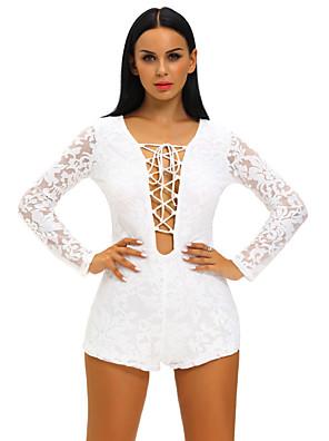 Damen Jumpsuits - Sexy Langarm Polyester / Elasthan Mikro-elastisch