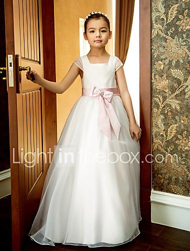 8a44036d615 Γραμμή Α Μέχρι τον αστράγαλο Φόρεμα για Κοριτσάκι Λουλουδιών ...