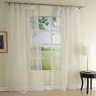 (One Pair) Fairy Embroidery Sheer Curtain