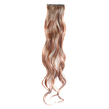 3 Pcs Clip in Synthetic Curly Hair Extensions with 2 Clips - 4 Colors Available