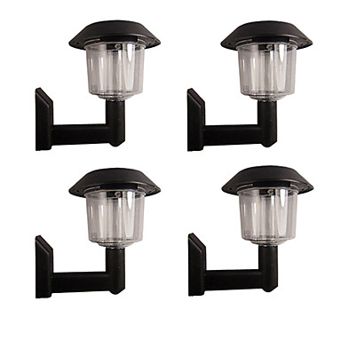 Wall Mount Solar Fence Lights : Set of 4 White Fence Wall Mount Solar Lights 310630 2016 USD 25.99
