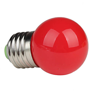 Buy 1W E26/E27 LED Globe Bulbs G45 1 High Power 90 lm Red AC 220-240 V