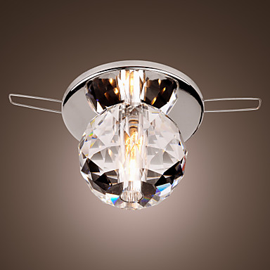 Flush Mount Modern Contemporary Chrome Feature For