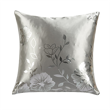 TWOPAGES? Modern Floral Polyester Decorative Pillow Cover in Silver 498941 2016 ? $6.29