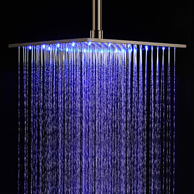 Contemporary Rain Shower Brushed Feature For LED Rainfall Shower Head 172