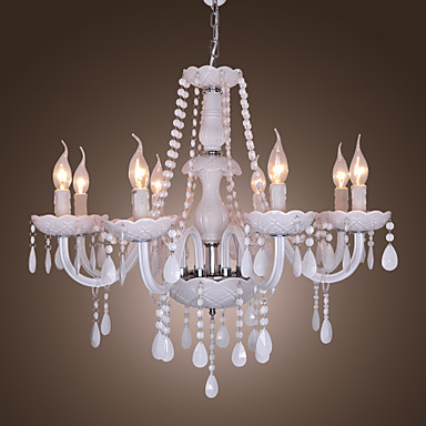 Max 40W Chandelier Rustic Lodge Electroplated Feature For Crystal Crystal L