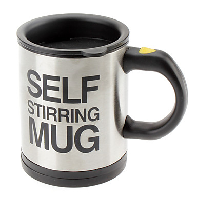 Stainless Steel Self Stirring Mug (2xAAA)