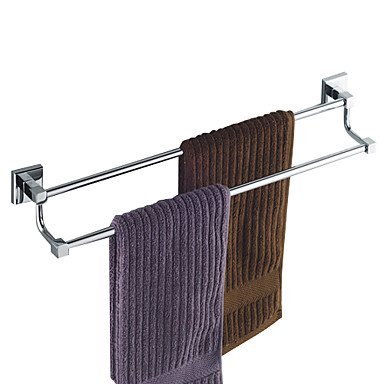 Buy Towel Bar Chrome Wall Mounted 600 x 120mm (23.6 4.7 inch) Brass Contemporary