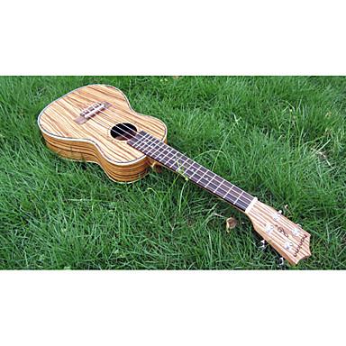 Hanknn ukulele concert zebrano avec housse cha ne for Housse ukulele concert
